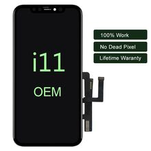 For iPhone 11 LCD Display With 3D Touch Digitizer Assembly No Dead Pixel LCD Screen Replacement Display For iPhone 11 Pro Max
