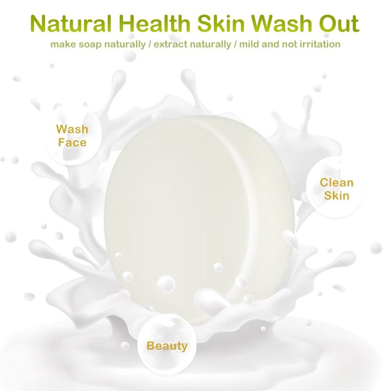 2/1 Pc Goat's Milk Handmade Soap Removal Acne Blackhead Smooth Skin Tightening Soap Body Face Washing Soap Skin Care TSLM1