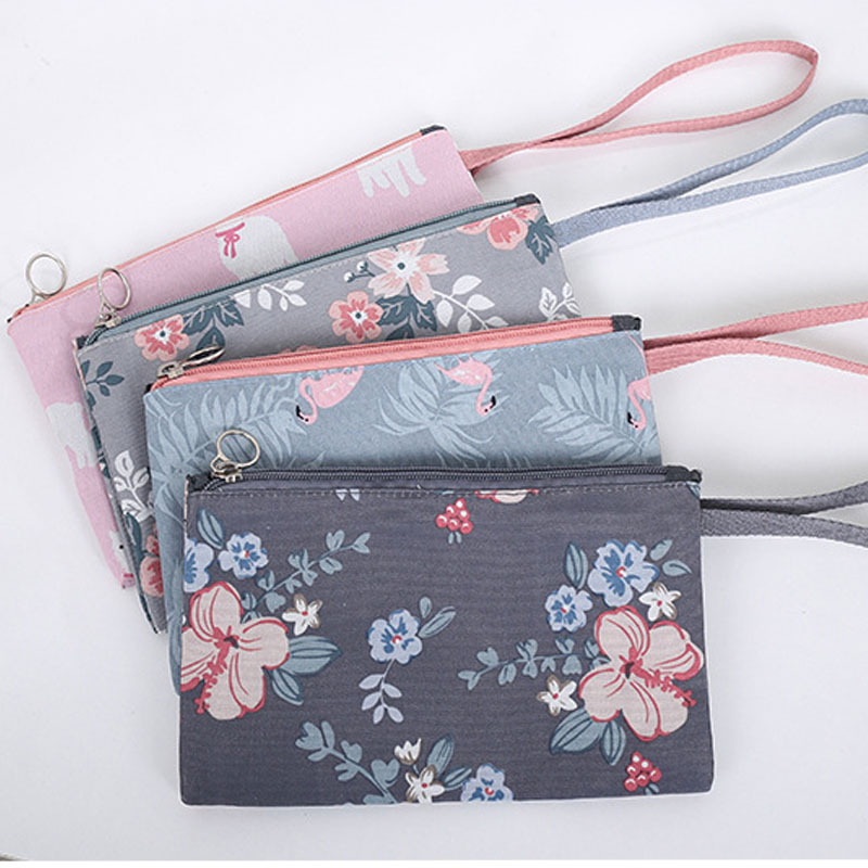 Fashion Toiletry Bag Printing Portable Multifunction Foldable Double Make Up Bags Korean Rectangle Large Capacity Cosmetic Bags
