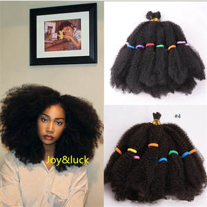 Marley Braids Hair-Extensions Short Crochet Curly Afro Kinky Syntheitic Ombre African