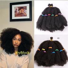 Joy amp luck Marley Braids Short Afro Kinky Curly Crochet Braiding Syntheitic Ombre Hair Extensions for African Women Braid cheap Joy luck High Temperature Fiber