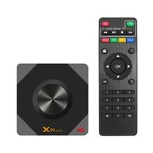 X99 MINI Android 9.0 Smart TV BOX Allwinner H6 czterordzeniowy wsparcie 6K obraz dekodowania 2.4G i 5G zestaw WIFI Top odtwarzacz multimedialny Box X99mini