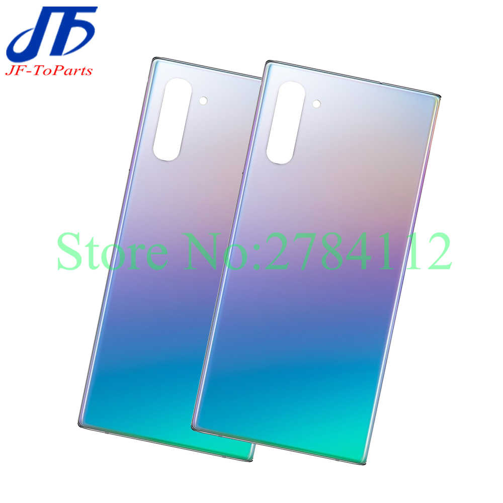 Blue Galaxy Note 10 Back Cover Glass Replacement Battery Door Housing Waterproof with Camera Lens Parts for Samsung Galaxy Note 10 N970 Tools