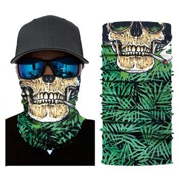 Motorcycle Face Mask Biker Green Skull Balaclava Ride Costume Scared Bandana Halloween Mask Ghost Sport Face Shield Mascara Moto 3d seamless neck buff bandana face mask camouflage motorcycle ghost skull face halloween bandana scarves