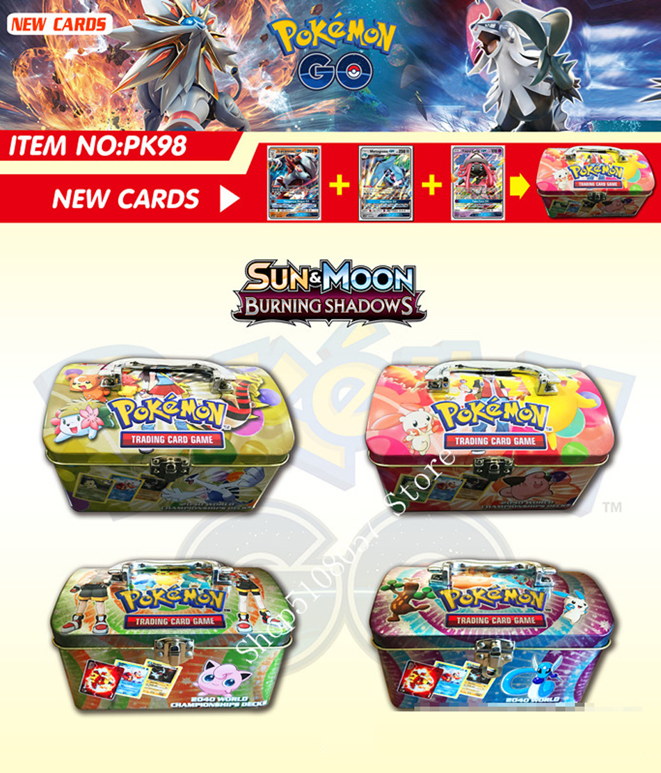 98pcs/set Carrying Case Box Pokemon TAKARA TOMY Battle Toys Hobbies Hobby Collectibles Game Collection Anime Cards For Children