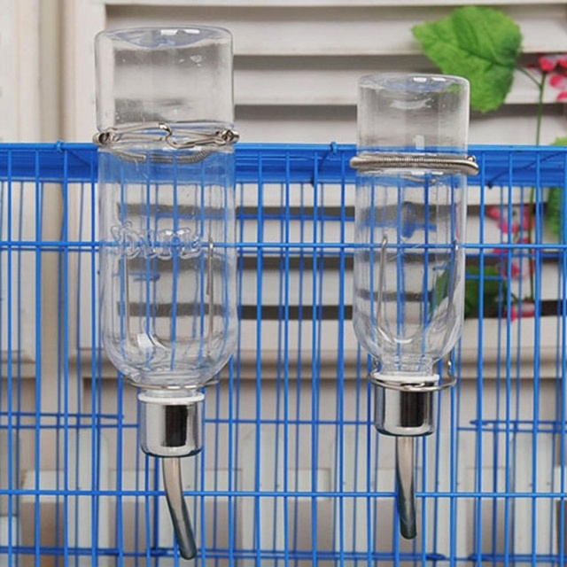 2019New Pet Small Rabbit Guinea Pig Hamster Plastic Water Fountain Drinking Bowl Bottle Feeder 5