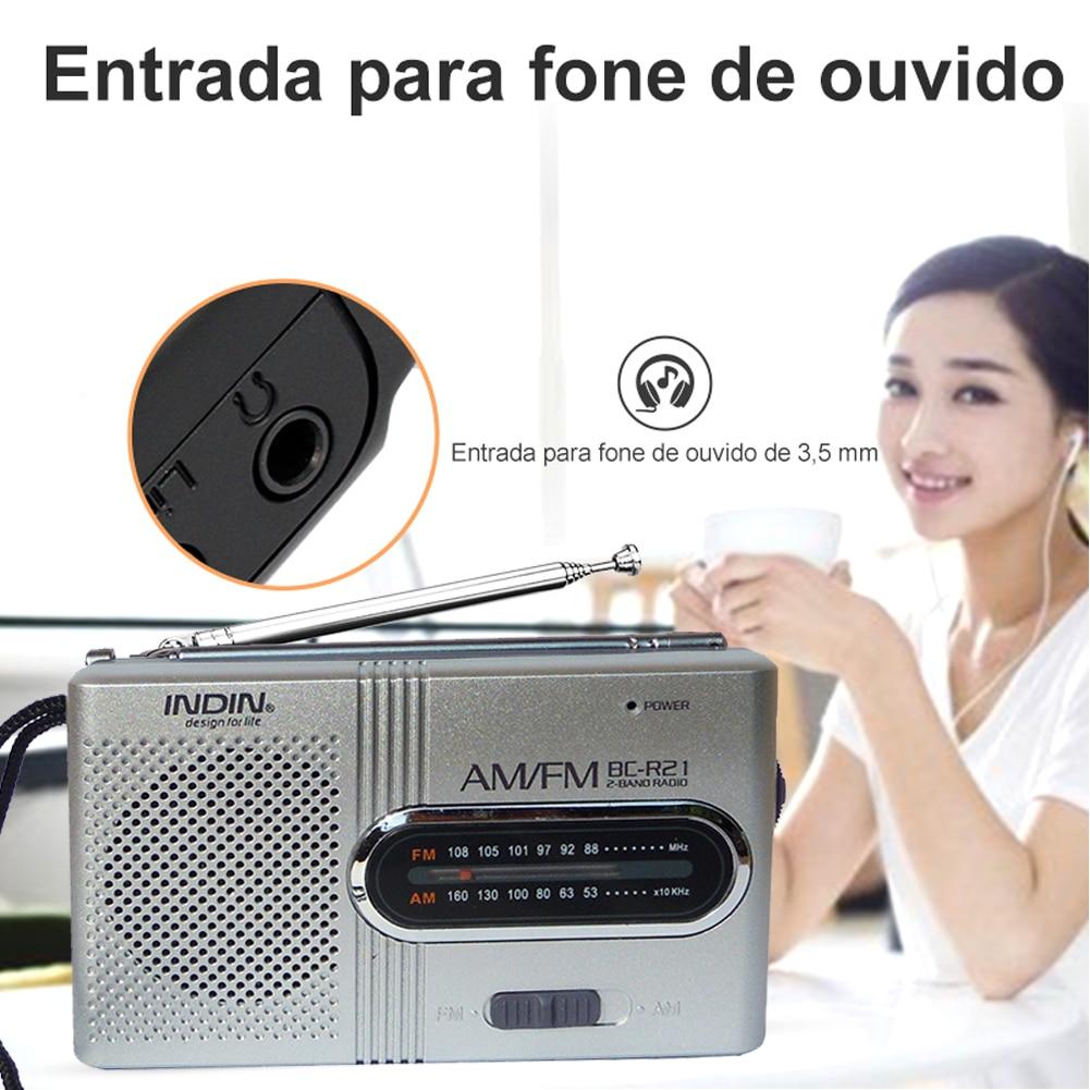 Погода радиостанция наушники будильник BC-R21 Портативный AM FM радио 2AA Батарея работает для внутреннего и наружного спорта аварийная Применен...