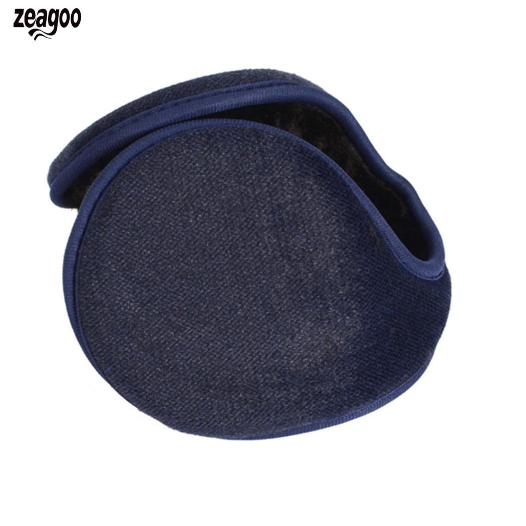 Men Solid Winter Earmuffs Wrap Ear Warmer Casual Adult Cover Ears