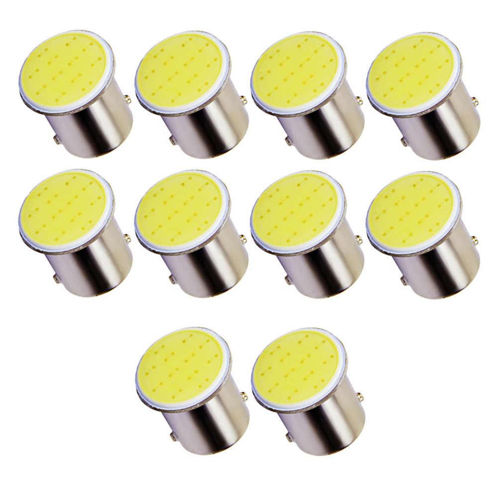 10 adet araba LED lamba 1156 BA15S P21W COB 12 SMD 12V dönüş sinyali ampul COB park geri vites fren lambası araba ışık