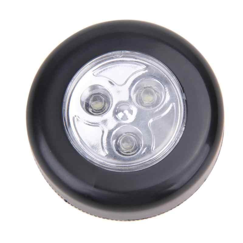 Mini 3 LED luz de pared alimentada por batería armario de cocina luz para armario lámpara táctil pequeña luz para armario luz nocturna