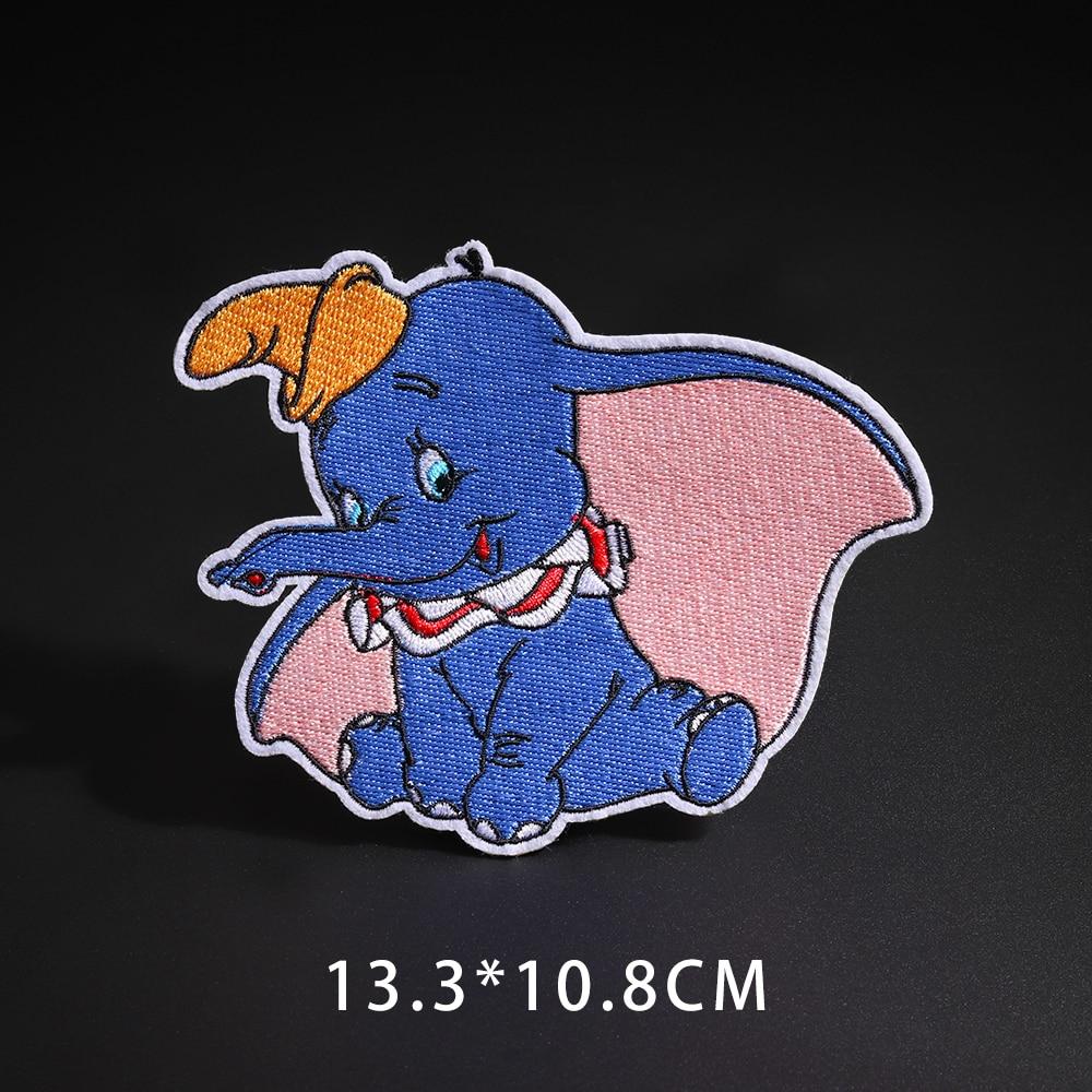 Мультфильм Dumbo нашивки со слонами клеящиеся утюгом украшения Мой сосед Тоторо ткань аппликации 3D Diy милое крыло свободы не лицо значки