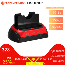 TISHRIC IDE SATA المزدوج الكل في 1 Hd/HDD قفص الاتهام/محطة الإرساء قرص صلب/محرك الأقراص الصلبة 2.5 3.5 قارئ Usb الاتحاد الأوروبي صندوق خارجي الضميمة