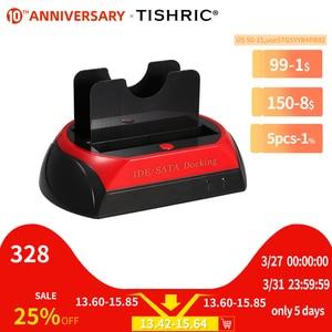 Image 1 - TISHRIC IDE SATA Dual All In 1 Hd/HDD Dock/Docking Station Hard Disk/Drive Hdd 2.5 3.5 Reader Usb EU External Box Enclosure Case