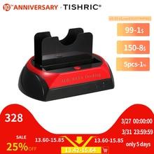 TISHRIC IDE SATA Dual Alle In 1 Hd/HDD Dock/Docking Station Festplatte/Stick Hdd 2,5 3,5 Reader Usb EU Externe Box Gehäuse Fall