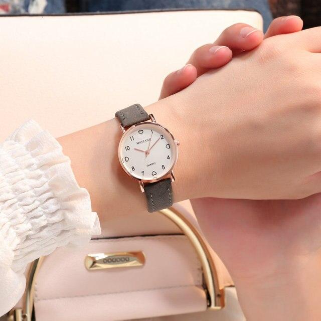 Simple Watch Women Watch Leather Fashion Casual Quartz Wrist Watch Ladies Watch Female Clock relogio feminino reloj mujer