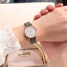 Simples Das Mulheres do Relógio Relógio de Couro Moda Casual Relógio de Pulso de Quartzo Relógio de Senhoras Relógio Feminino relogio feminino reloj mujer