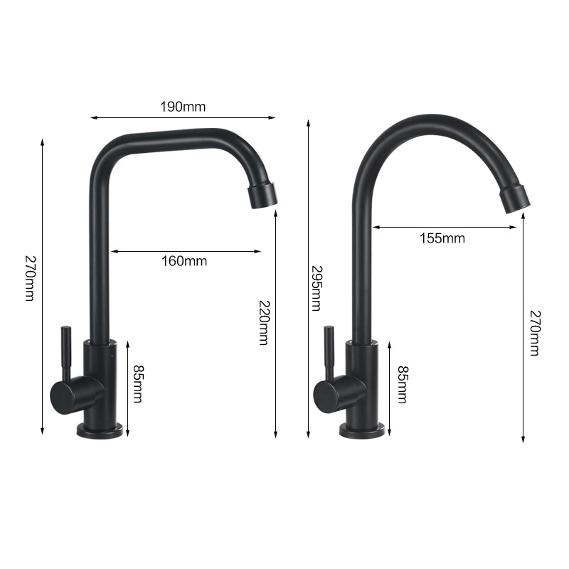 Image 2 - Kitchen Faucets 304 Stainless Steel Kitchen Mixer Single Handle Single Hole Kitchen Faucet Mixer Sink Tap Kitchen Faucet MO202Kitchen Faucets   -