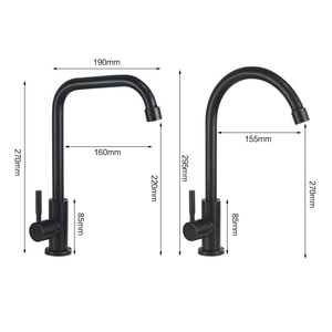 Image 2 - Kitchen Faucets 304 Stainless Steel Kitchen Mixer Single Handle Single Hole Kitchen Faucet Mixer Sink Tap Kitchen Faucet MO202