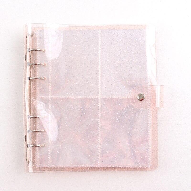 3/5 zoll Fotoalbum 200 Taschen Tragbare Transparent Photocard Halter Nette Gelee Farbe Karte Tasche Lose-blatt Fotoalbum heißer