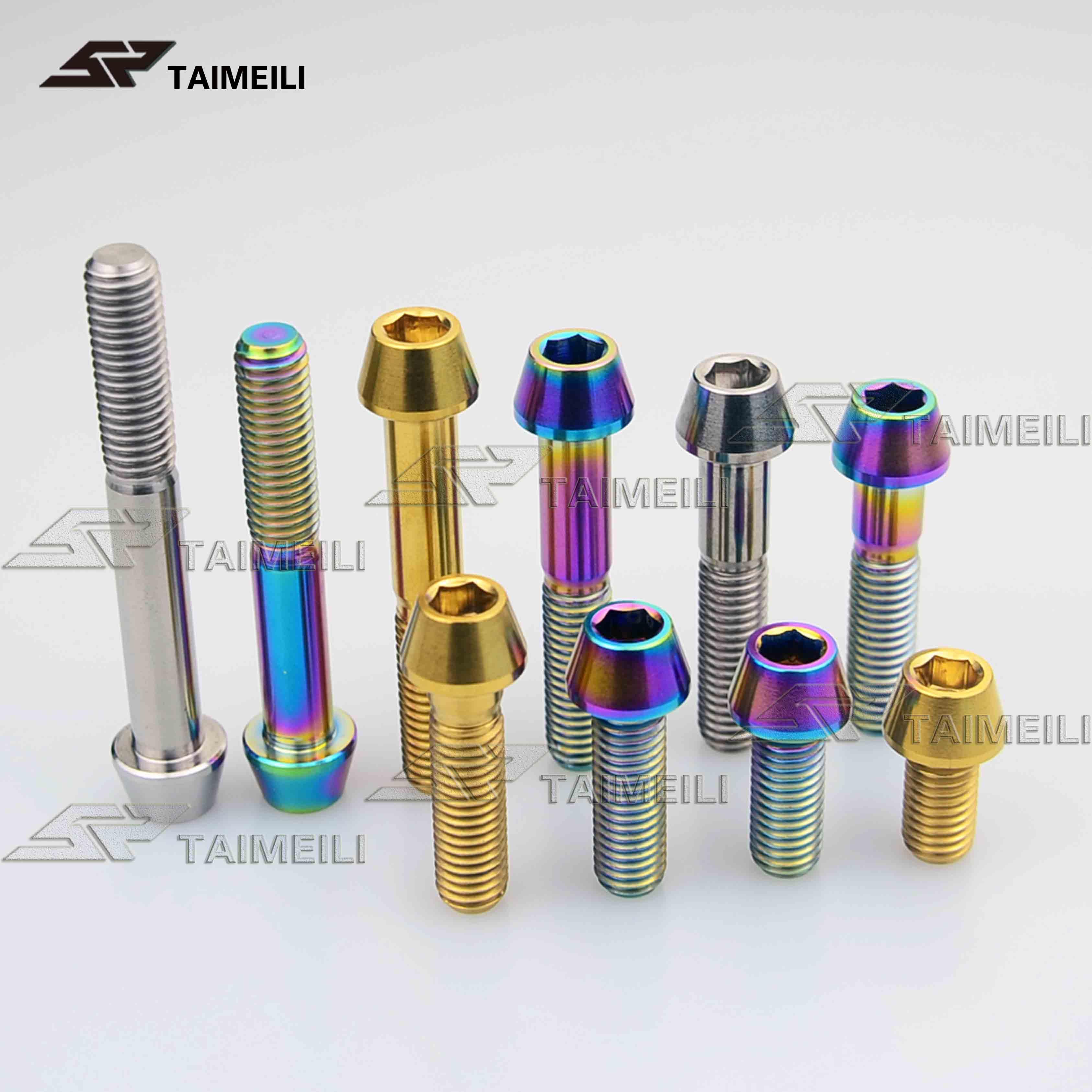 Titanium Bolts Taper Head M8x15 20 25 30 35 40 45 50mm Ti Bolt Screw 1.25