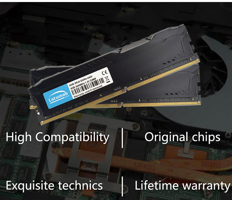 Купить с кэшбэком Latumab DDR4 4G 8G 16G RAM Desktop Memory 3200MHz PC Memory PC4-24000 RAM Memory Module