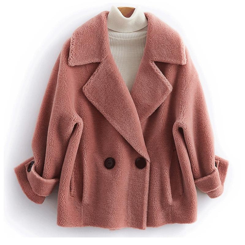 Coat Fur Real Female Sheep Shearling Fur Jackets Winter Jacket Women 100% Wool Coat Korean Jacket Casaco Feminino MY3886