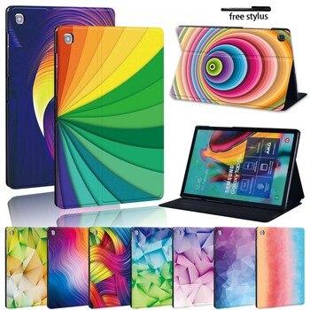 Разноцветный кожаный чехол-подставка для планшета Samsung Galaxy Tab A 10,1 T510 T515/TabA 7,0/9,7/10,5 дюймов/Tab E 9,6/Tab S5E 10,5