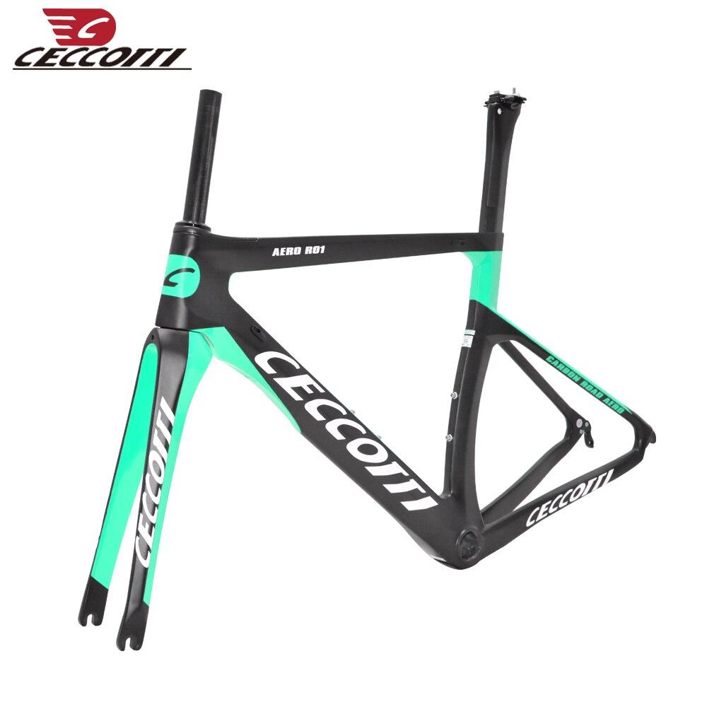 2019 New  ROAD FULL Carbon Bike Frame Ceccotti Marco Bicicleta Frame V Brake Frame Carbon Free Shipping