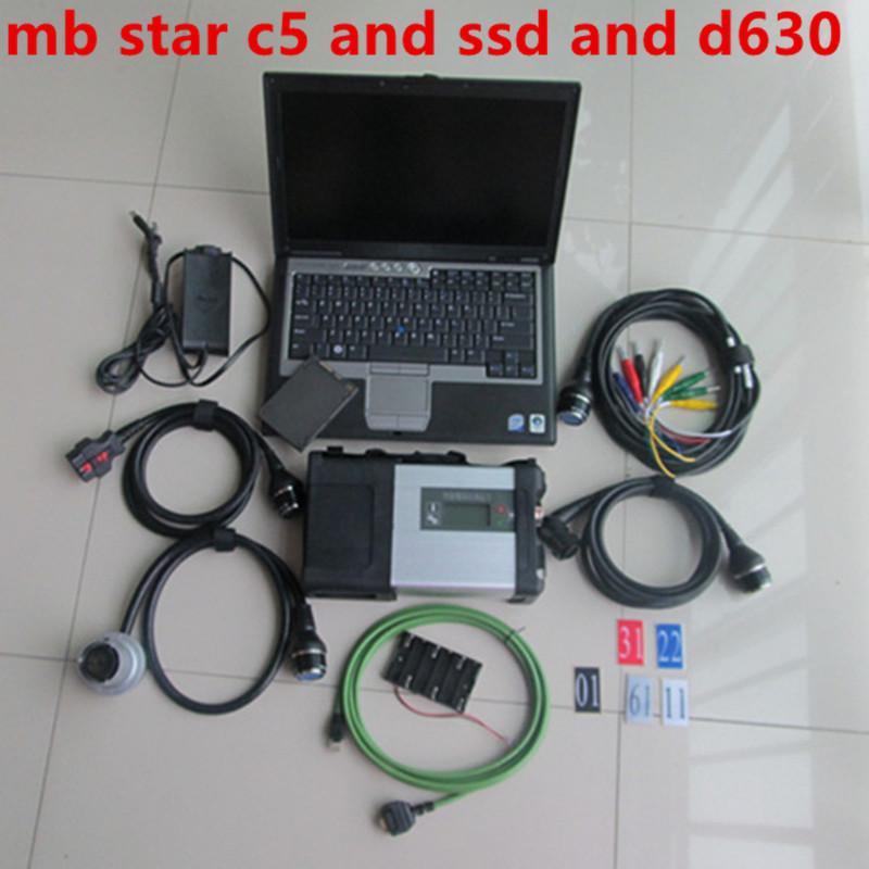 MB Star C5 V03.2020 Software HHT DTS In SSD Used Computers Laptop D630 SD 5 Car And Truck OBD Diagnostic Tool For Mercedes