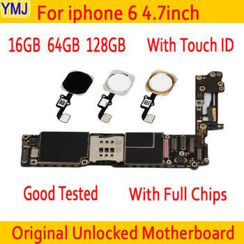 100% Original entsperrt für iphone 6 Motherboard Mit Touch ID/ohne Touch ID, für iphone 6 Logic boards,16gb / 64gb / 128gb