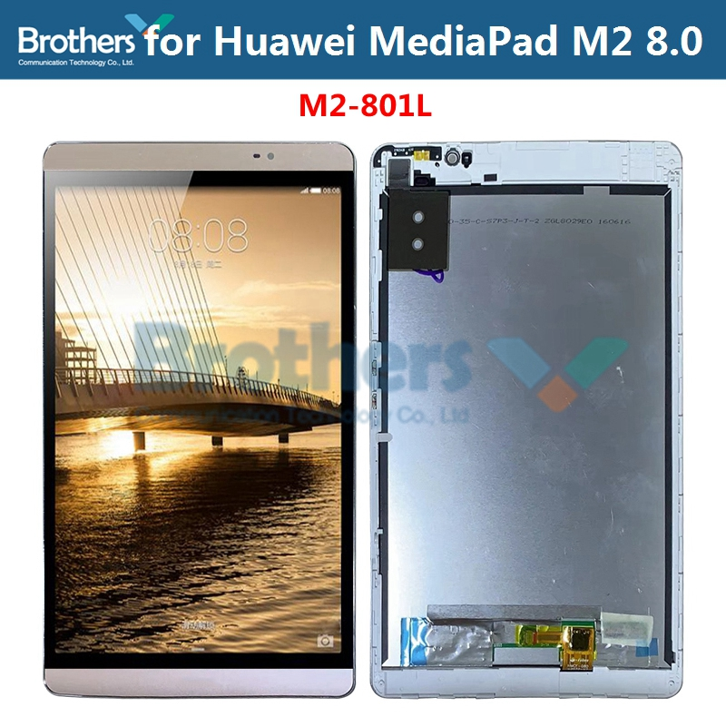 Touch Screen For Huawei MediaPad M2 8.0'' M2-801L LCD Screen Display Touch Screen Assembly Tab Touch Panel Replacement Test Top