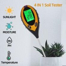 4 в 1 измеритель PH/влажности/температуры/почвы, измеритель PH, измеритель влажности растений, датчик влажности почвы, инструмент для измерени...