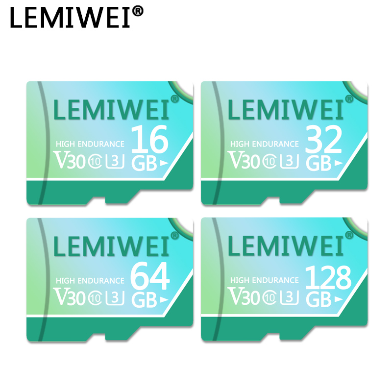 LEMIWEI Memory Card 128GB 64GB V30 High Speed Class 10 U3 TF Flash Card 32GB 16GB For Tablet PC Smartphone