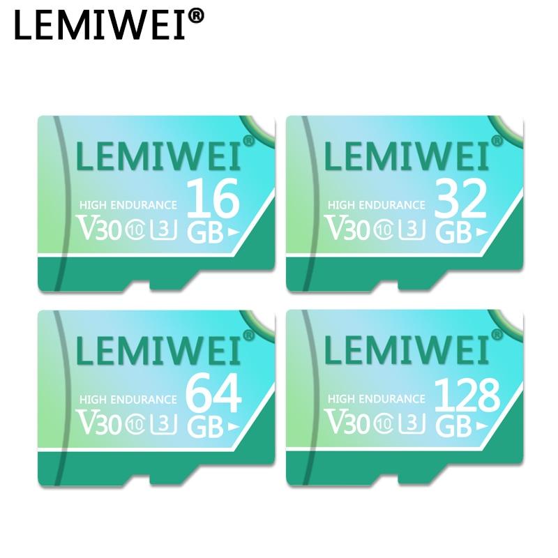 LEMIWEI Memory Card 128GB 64GB V30 High Speed Class 10 U3 TF Flash Card 32GB 16GB For Tablet PC Smartphone