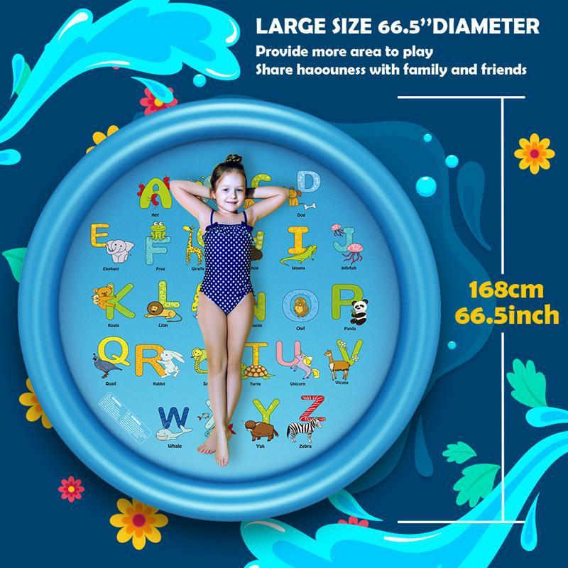 Children Swimming Pool Summer Water Spray Outdoor Bath Utensils Lawn Game Mat Children's Water Playing Toy Water Slide