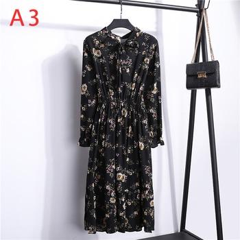 Γυναικείο Φόρεμα vintage floral Με φιόγκο midi summer dress