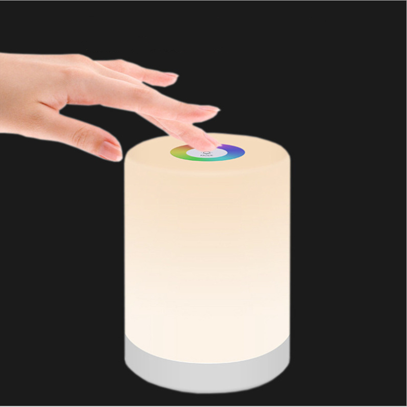 Portable Colorful Nightlight Creative Rechargeable Desk Led Atmosphere Light Bedroom Bedside Touch Night Light