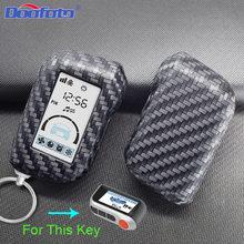 Caso capa chave do carro saco estilo acessórios para starline a93 a63 versão russa em dois sentidos lcd alarme de carro de controle remoto chaveiro