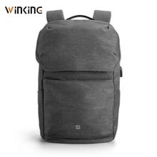 Kingsons sac à dos pour ordinateur portable 15.6 pouces, chargeur USB externe, sacs dordinateur Anti vol sacs étanches pour hommes et femmes, nouveau style