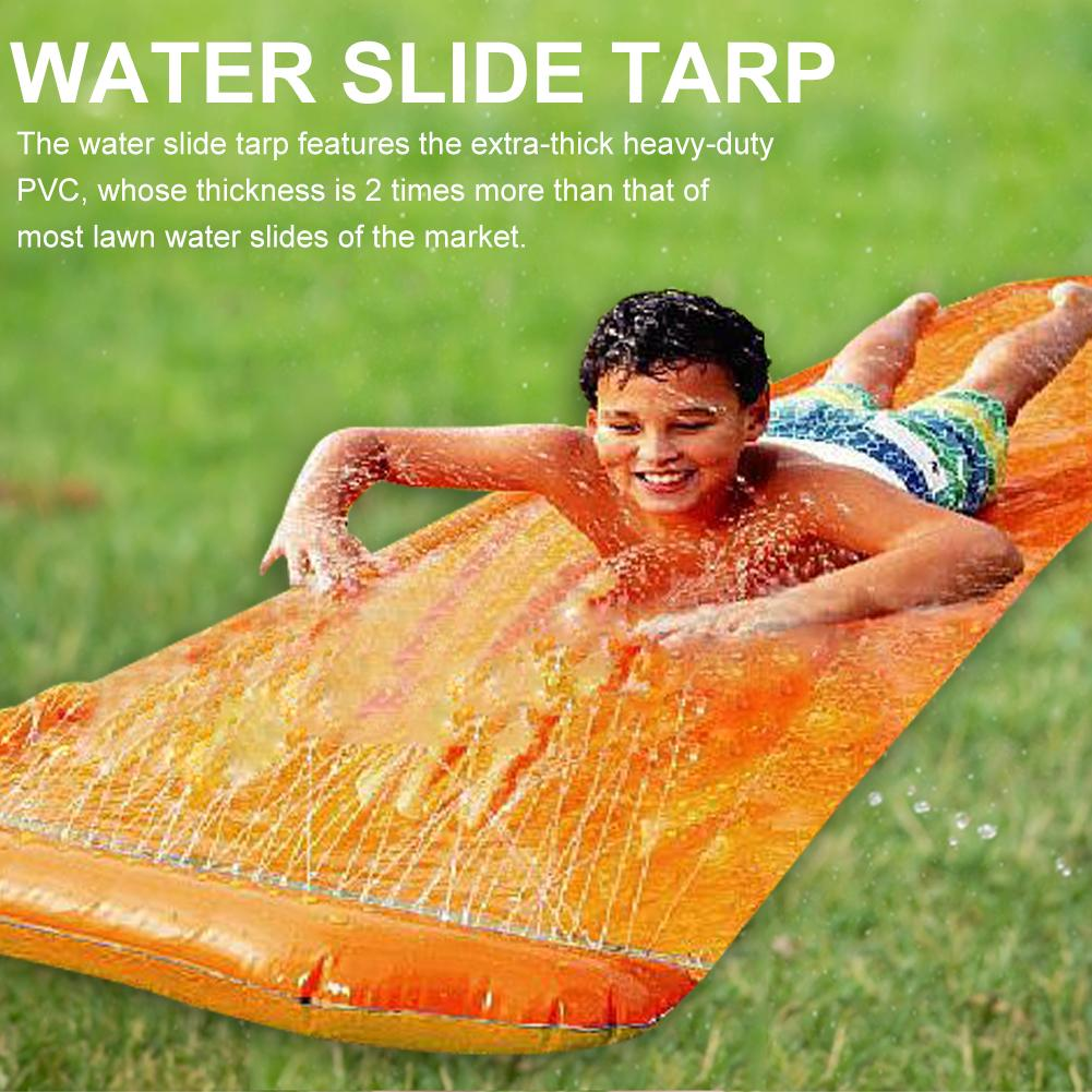 Water Slide Tarp Lawn Water Slide Backyard Play Home Stay Water Slide Tarp Summer Toy For Children Outdoors Have Fun