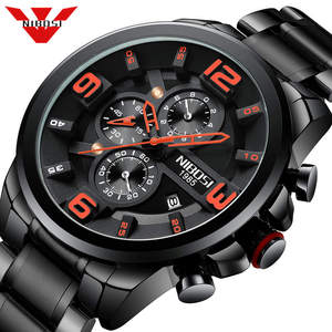 Image 1 - NIBOSI hommes montre Reloj Hombre 2018 hommes montres haut marque de luxe montre à Quartz grand cadran Sport étanche Relogio Masculino Saat
