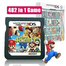Mario album vídeo game cartão 482 em 1 cartucho console cartão para nds ndsl 2ds 3ds 3dsll ndsi
