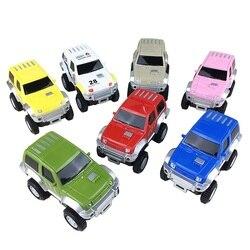 5.2cm trilha eletrônica brinquedos de carro jeep carro brinquedos educativos carro colorido para pista ferroviária para crianças crianças jogar com presentes pista