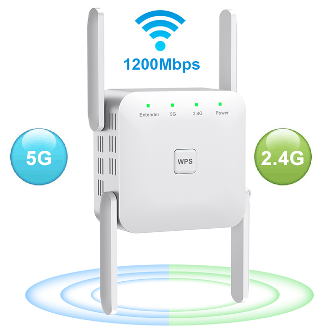 5 Ghz WiFi Repeater Wireless Wifi Extender 1200Mbps Wi-Fi Amplifier 802.11N Long Range Wi fi Signal Booster 2.4G Wifi Repiter 1