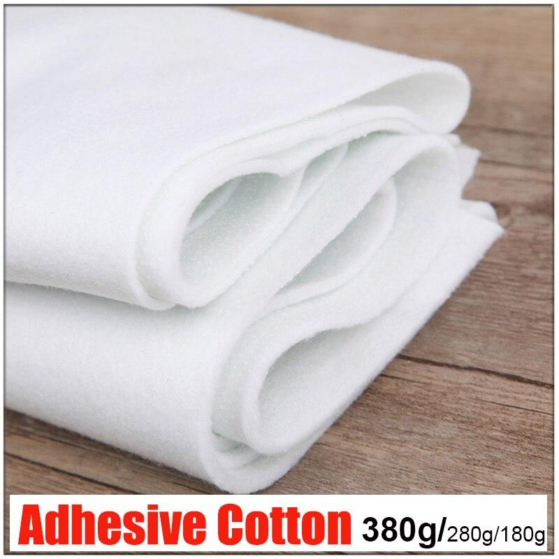 180g/280g/380g Single Glue Adhesive Cotton Batting Fusible Felt Interlining guata For Purse DIY Patchwork Wadding Craft Tela
