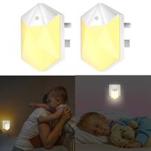 2pcs Plug-in Night Light LED Night Lights Auto Dusk Dawn Sensor Hallway Bedroom Kitchen Bathroom Stairway Energy Efficient
