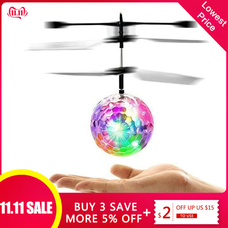 Colorful Luminous Toys Induction Flying Toy Colorful Flash Light Flying Ball For Children Kids Gifts