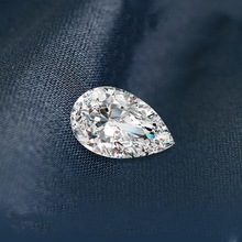 Szjinao Real 100% Loose Gemstone Moissanite Diamond 0.35ct 3*5mm D Color VVS1 Pear shaped GRA Moissanite Stone For Diamond Ring