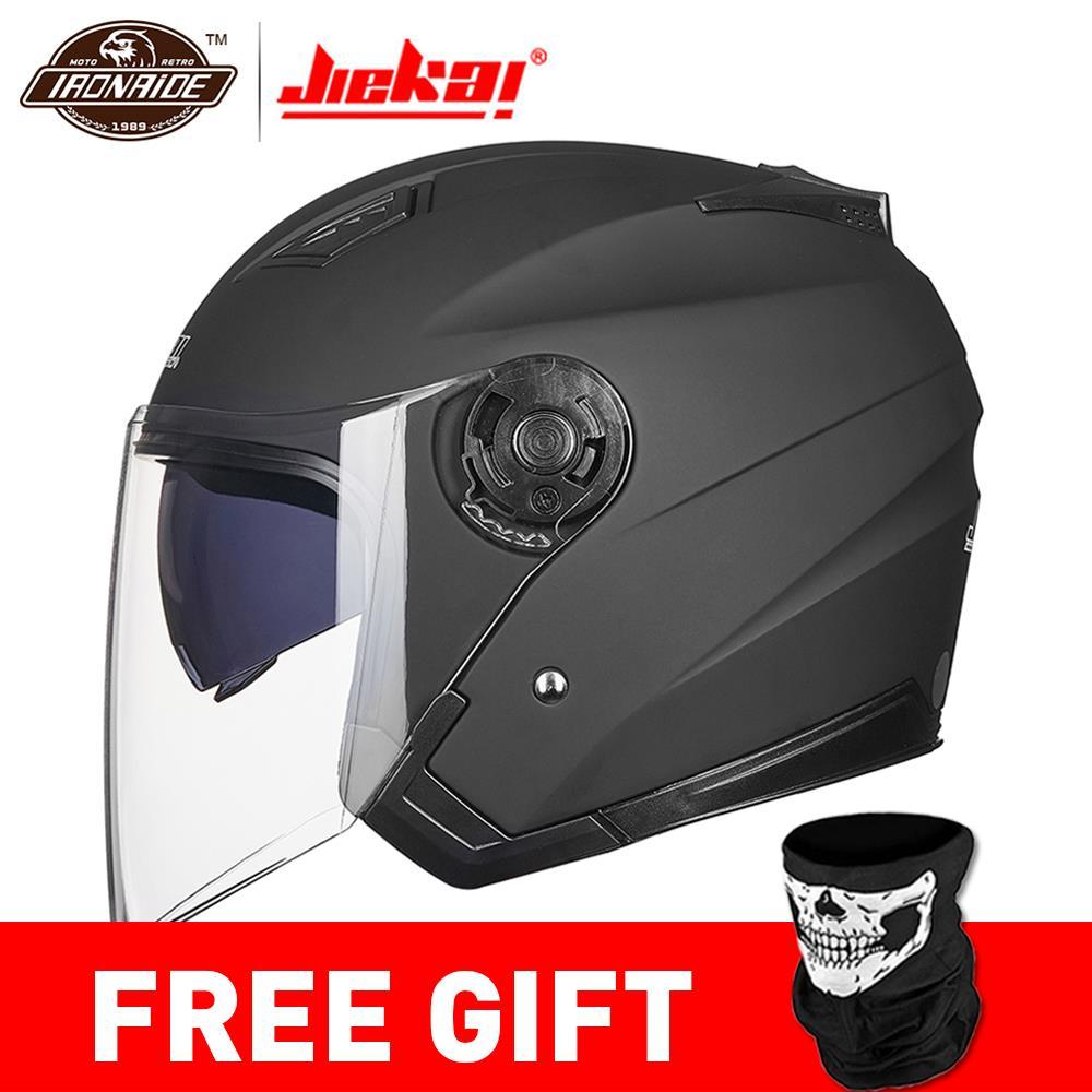 JIEKAI Helm Motorrad Open Face Capacete Motorrad Helm Motocicleta Cascos Para Moto Racing Motorrad Vintage Helme