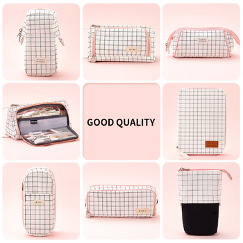 INS Large Capacity Fresh Cute Pencil Case Girl Boy Student Multifunction Stationery Pen Brushes Bag Pouch Box For School Student simple camouflage pencil case small fresh large capacity pen box student student stationery bag pencil bag orange
